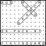 Australian 11x11 Wordsearch puzzles 26-pack no.1