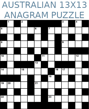 Australian 13x13 anagram crossword puzzle no.317
