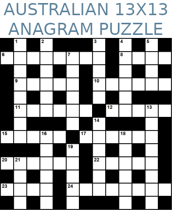 Australian 13x13 anagram crossword puzzle no.321