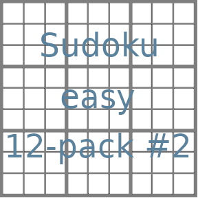 Sudoku 9x9 easy puzzles 12-pack no.2