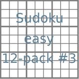Sudoku 9x9 easy puzzles 12-pack no.3