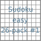 Sudoku 9x9 easy puzzles 26-pack no.1