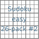 Sudoku 9x9 easy puzzles 26-pack no.2