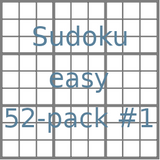 Sudoku 9x9 easy puzzles 52-pack no.1