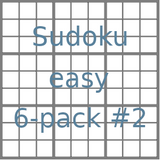 Sudoku 9x9 easy puzzles 6-pack no.2