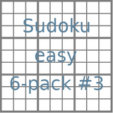 Sudoku 9x9 easy puzzles 6-pack no.3