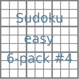 Sudoku 9x9 easy puzzles 6-pack no.4