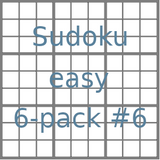Sudoku 9x9 easy puzzles 6-pack no.6