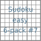Sudoku 9x9 easy puzzles 6-pack no.7