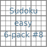 Sudoku 9x9 easy puzzles 6-pack no.8