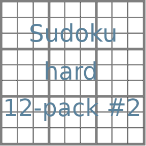 Sudoku 9x9 hard puzzles 12-pack no.2
