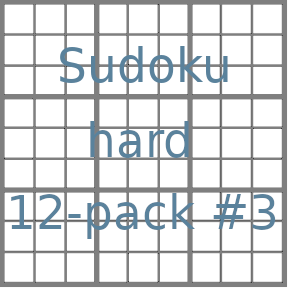 Sudoku 9x9 hard puzzles 12-pack no.3