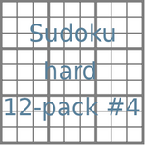 Sudoku 9x9 hard puzzles 12-pack no.4