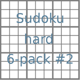 Sudoku 9x9 hard puzzles 6-pack no.2