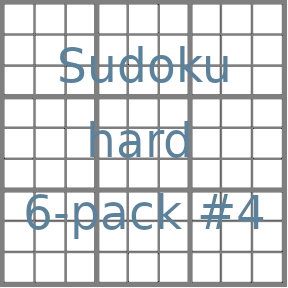 Sudoku 9x9 hard puzzles 6-pack no.4