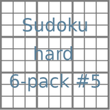 Sudoku 9x9 hard puzzles 6-pack no.5