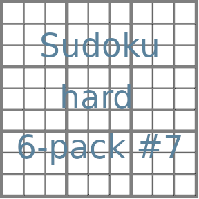 Sudoku 9x9 hard puzzles 6-pack no.7