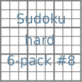 Sudoku 9x9 hard puzzles 6-pack no.8