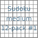 Sudoku 9x9 medium puzzles 12-pack no.1