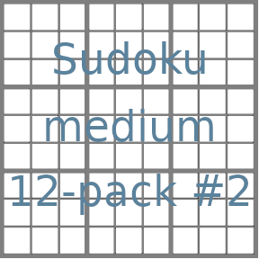 Sudoku 9x9 medium puzzles 12-pack no.2