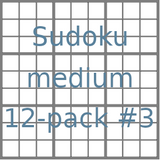 Sudoku 9x9 medium puzzles 12-pack no.3