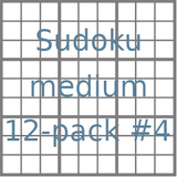 Sudoku 9x9 medium puzzles 12-pack no.4