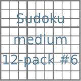 Sudoku 9x9 medium puzzles 12-pack no.6