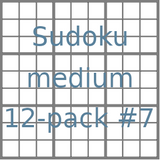 Sudoku 9x9 medium puzzles 12-pack no.7