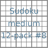 Sudoku 9x9 medium puzzles 12-pack no.8