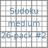 Sudoku 9x9 medium puzzles 26-pack no.2