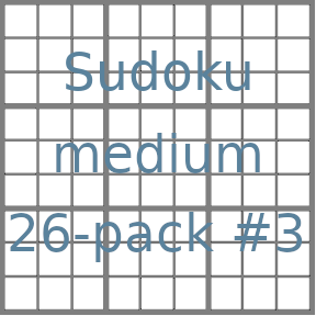 Sudoku 9x9 medium puzzles 26-pack no.3