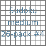 Sudoku 9x9 medium puzzles 26-pack no.4