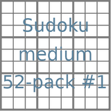 Sudoku 9x9 medium puzzles 52-pack no.1