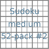 Sudoku 9x9 medium puzzles 52-pack no.2