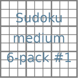 Sudoku 9x9 medium puzzles 6-pack no.1