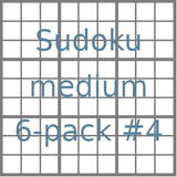 Sudoku 9x9 medium puzzles 6-pack no.4