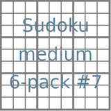 Sudoku 9x9 medium puzzles 6-pack no.7