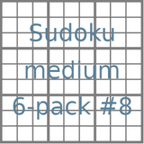 Sudoku 9x9 medium puzzles 6-pack no.8