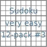Sudoku 9x9 very easy puzzles 12-pack no.3