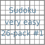 Sudoku 9x9 very easy puzzles 26-pack no.1