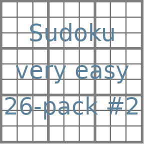 Sudoku 9x9 very easy puzzles 26-pack no.2