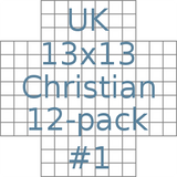 UK 13x13 Christian puzzles 12-pack no.1