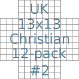 British 13x13 Christian puzzles 12-pack no.2