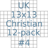 British 13x13 Christian puzzles 12-pack no.4