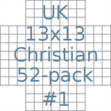 UK 13x13 Christian puzzles 52-pack no.1