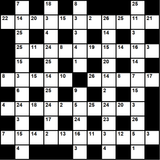 British 11x11 codeword puzzle no.301