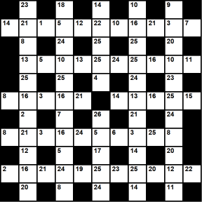 British 11x11 codeword puzzle no.302