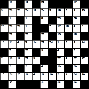 British 11x11 codeword puzzle no.305