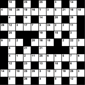 British 11x11 codeword puzzle no.306