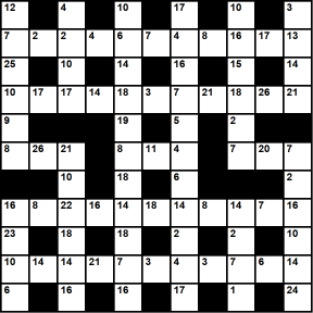 British 11x11 codeword puzzle no.307